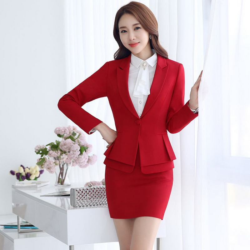 Formal damas Oficina falda traje 2018 Oficina uniforme