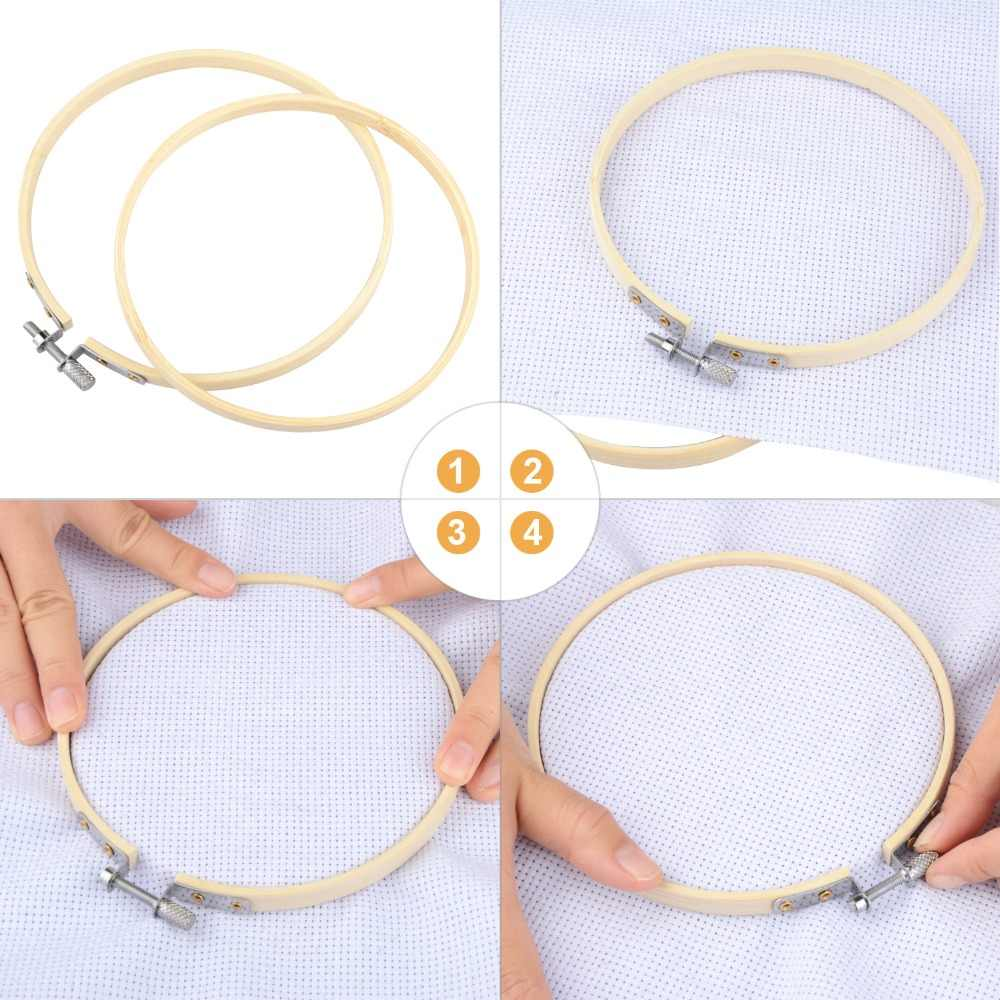 10-40 centimetri mini in legno di ricamo a punto croce di Bambù del cerchio per anello kit di ricamo cerchio cornice di grandi strumenti di cucito accessori arredamento
