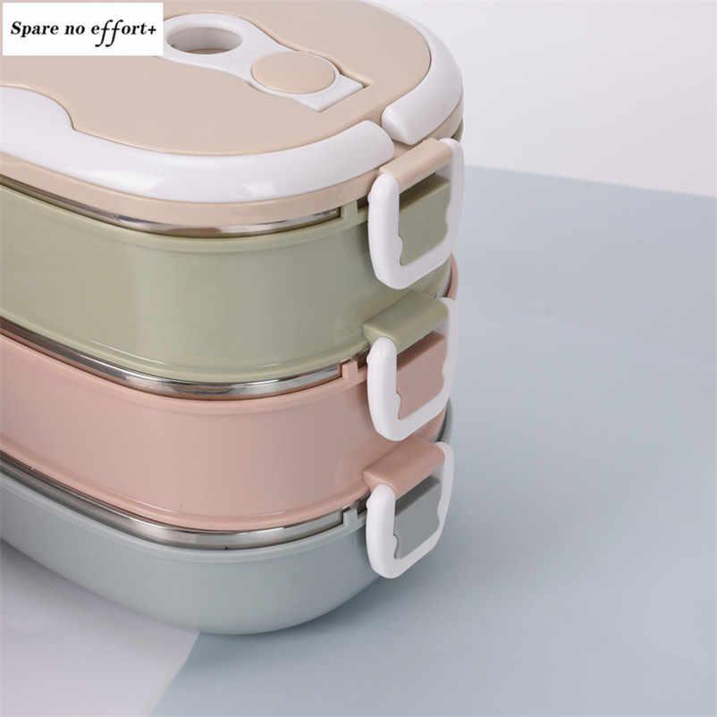 Przenośne pudełko na lunch 304 ze stali nierdzewnej pudełka na kanapki dla dzieci dorośli Bento Box szczelny termos pojemnik na żywność Caja De Almuerzo