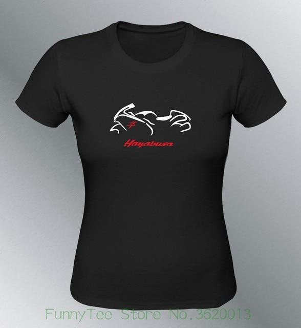 Women s Tee T-shirt Customised Hayabusa Gsx - R Sml Xl Black Woman Gsxr 1300 f991f8296755
