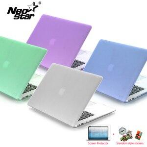 Image 1 - كمبيوتر محمول جراب للماك بوك اير 13 ماتي شفاف لاجهزة ابل ماك بوك اير برو ريتينا 11 12 13 15 + واقي للشاشة