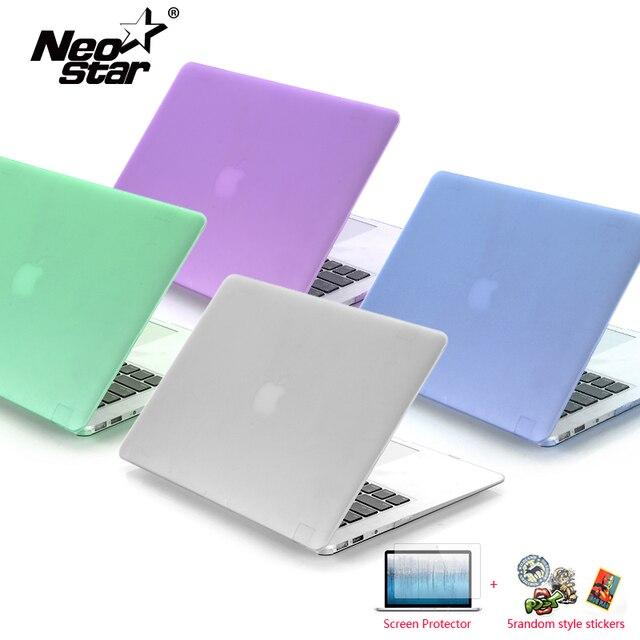 كمبيوتر محمول جراب للماك بوك اير 13 ماتي شفاف لاجهزة ابل ماك بوك اير برو ريتينا 11 12 13 15 + واقي للشاشة