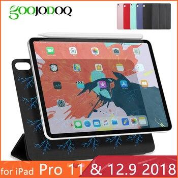 Для iPad Pro 11 Чехол для iPad Pro 12,9 2018 Funda Магнитный ультра тонкий умный чехол для iPad 11 дюймов Чехол Поддержка прикрепить заряд