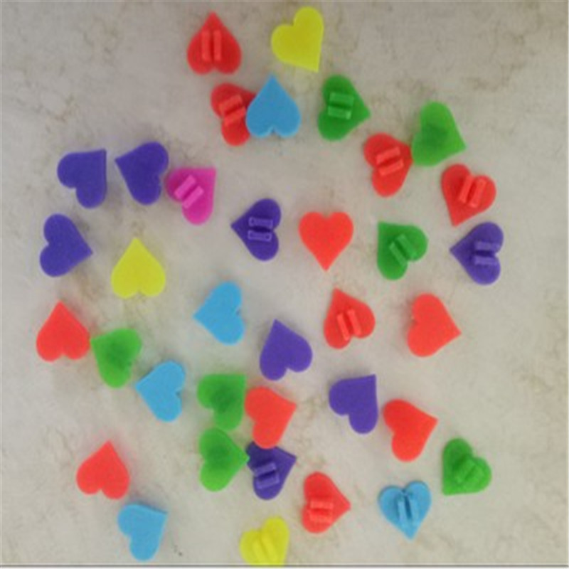 Heart Shape Wheel Colorful Plastic Bicycle Spoke Beads Multi Color Children Clip Decoration baby Bike kid Cycling Accessories
