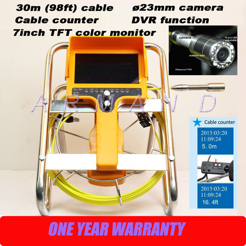 Stand Handy Plumbing drain sewerage outdoor duct pipe camera inspection system borescope 98ft cable 710DNC-SCJ1 image
