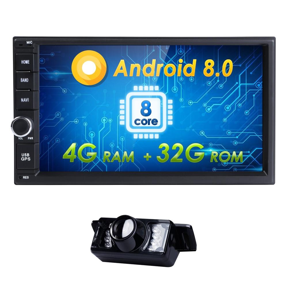 2din Qcta Core Pur Android 8.0 Auto Radio De Voiture PAS de Lecteur DVD De Voiture PC Tablet Magnétophone Tête Unité Pour nissan GPS Navi 4 GBSWC TV