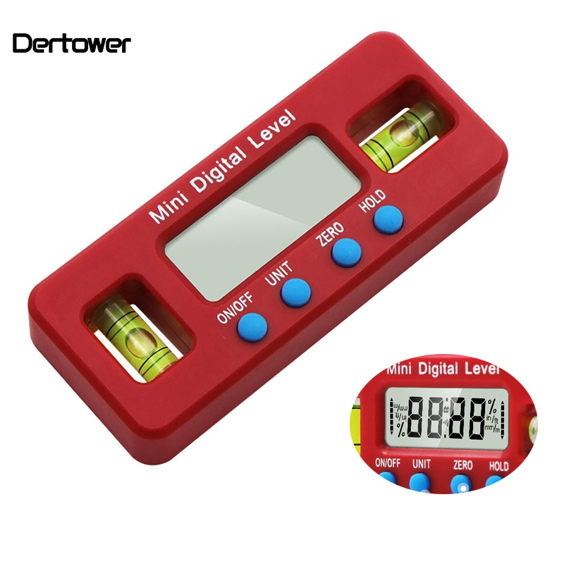 100mm Strong Magnetic Level Ruler Electronic Digital Display Spirit Instrument Inclinometer Angle Measuring Tool