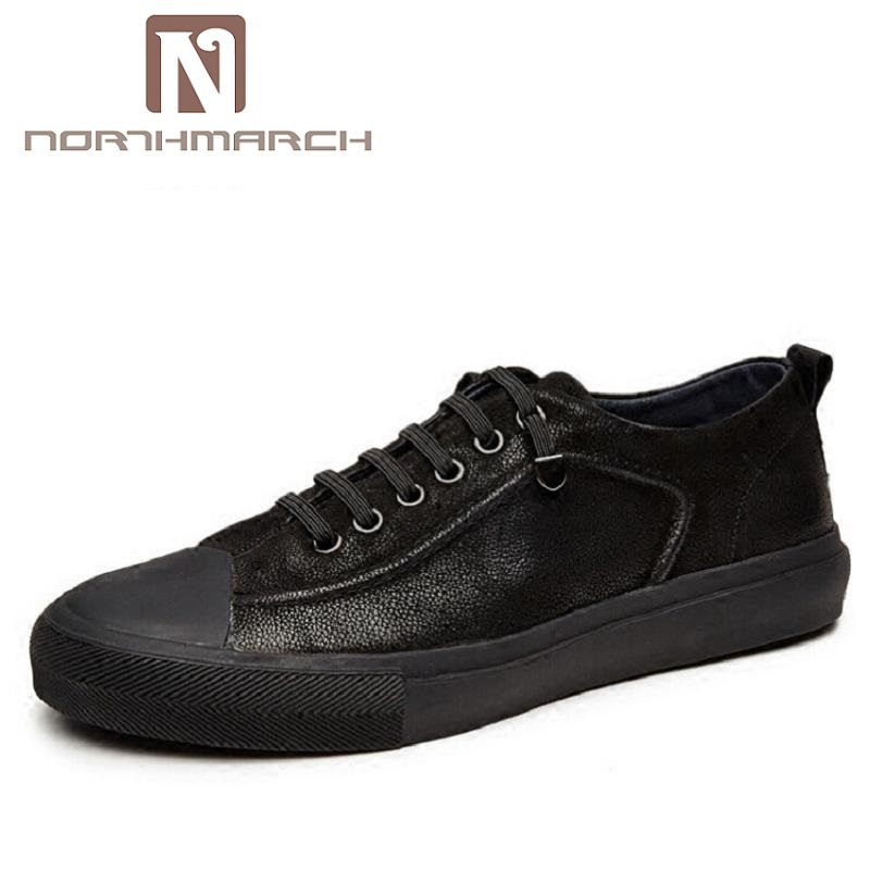 NORTHMARCH Top-Quality Genuine Leather Men Casual Shoes Fashion Breathable Male Flats Shoes Real Leather Men Footwear gram epos men casual shoes top quality men high top shoes fashion breathable hip hop shoes men red black white chaussure hommre