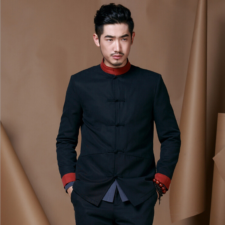 Chinese Style Men Costume Tang Suit Set Traditional ...