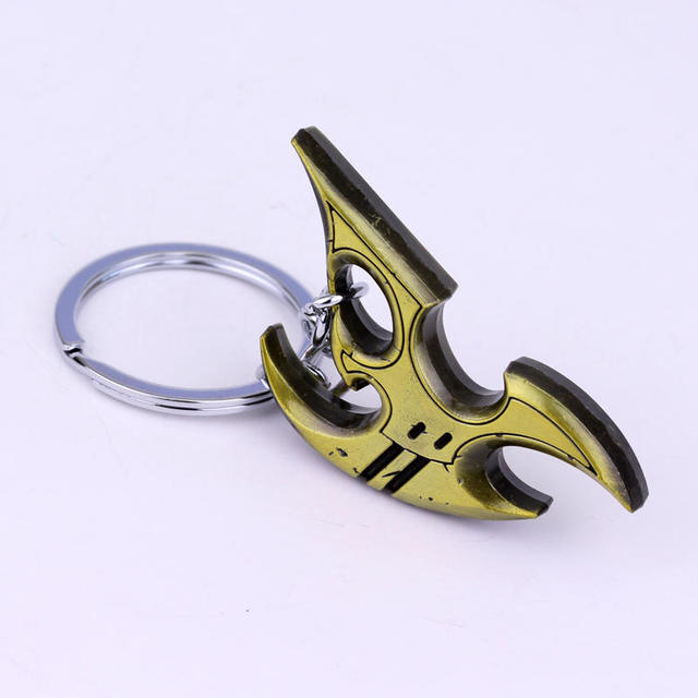 Games Jewelry StarCraft 2 Protoss Keychain Creative Key Rings for Unisex Gifts Llavero Holders  5