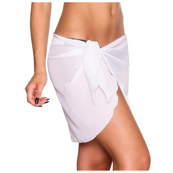 2f6bddf47d Beach cover up Bikini Swimwear Cover up sarong wrap Pareo Skirt swimsuit  white-in Cover-Ups from Sports & Entertainment on Aliexpress.com | Alibaba  Group