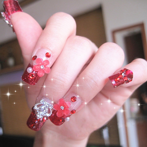 Free Shipping 10pieces Lot Handmade Customized Bride Fasle Nails