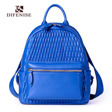 Difenise Brand Fashion Women Leather Casual Backpack High Quality Women's School Bag Travel Shopping backpacks