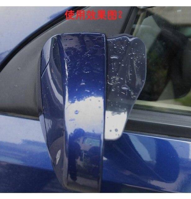 Universal Flexible PVC Car Accessories Rearview Mirror Rain Shade Rainproof Blades Car Back Mirror Eyebrow Rain Cover 2Pcs 3