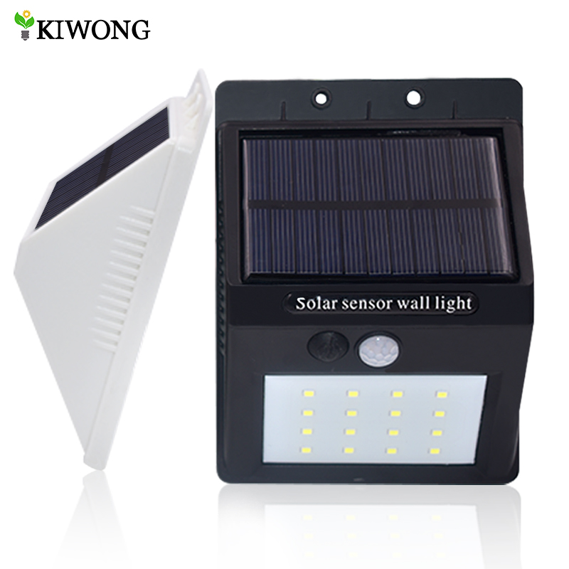 Solar Lights 16 LED Wireless Light Waterproof Motion Sensor Outdoor Lamps For Patio Deck Yard Garden With Three Modes