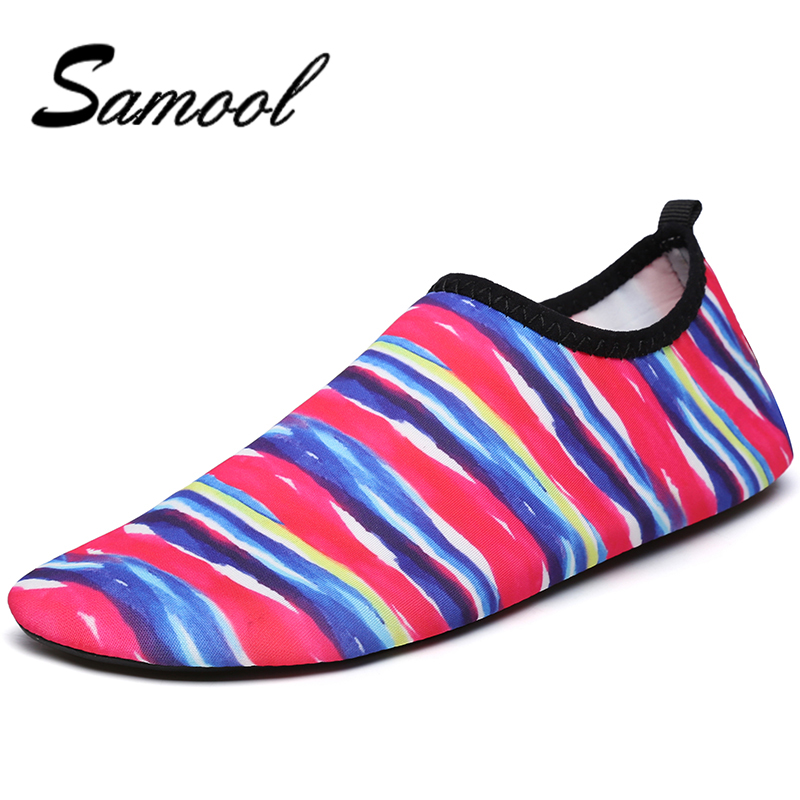 Samool Women Couple Swimming Water Shoes Bicycle Seaside Beach Surfing Slippers yoga Shoes Slip-on Soft Fitness Lightweight MX5 environmentally friendly pvc inflatable shell water floating row of a variety of swimming pearl shell swimming ring