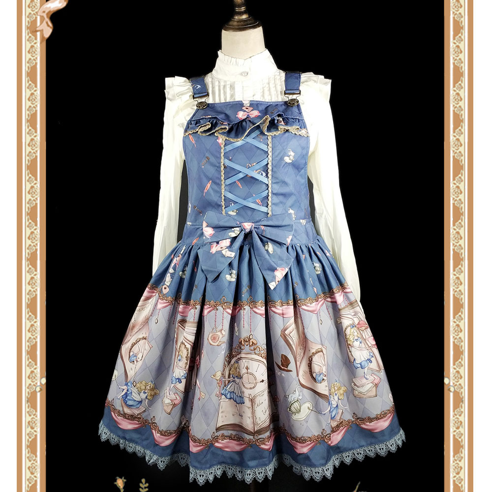 The Book Of Alices Mysterious Land ~ Sweet Printed Lolita Salopette Dress by Infanta ...