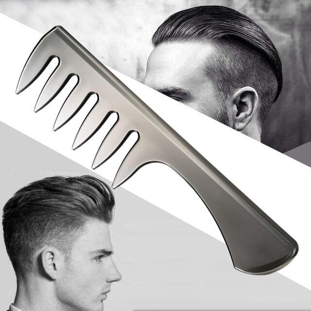 Saç Tarak Erkek Kıllar Fırça Plastik Klasik Yağ Kaygan Şekillendirici anti-statik Dolaşık Açıcı moda Geniş Saç Fırçası adam beyefendi için