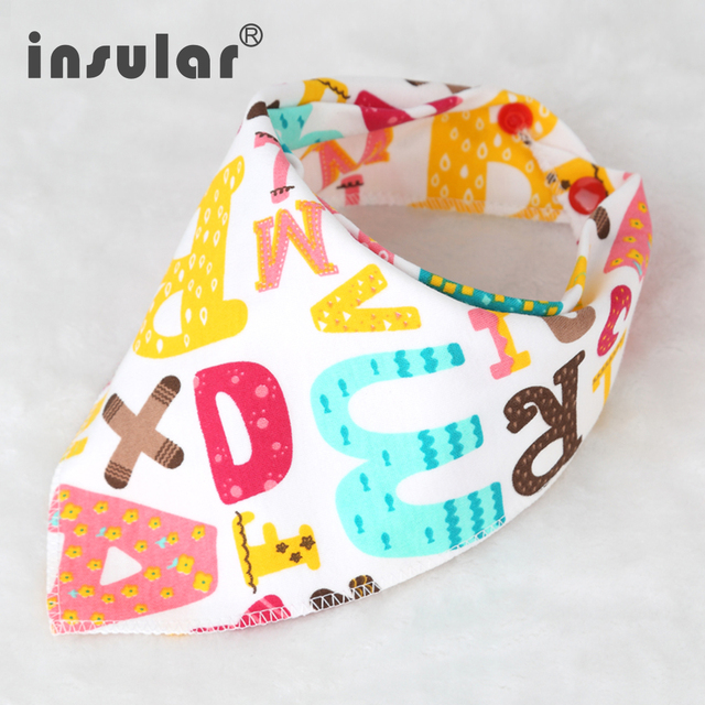 Cotton High Quality Cartoon Baby Bibs Double Layers Soft Cotton Fiber Newborn Burp Bib Kid Bandana