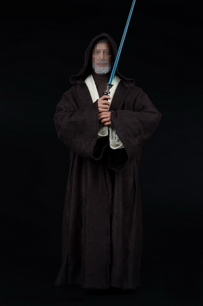 1/6 Scale Star Wars Jedi Knights Obi-Wan Clothes Weapon Sword Models For 12 Inches Figures 1 6 scale the game of death bruce lee head sculpt and kungfu clothes for 12 inches figures bodies