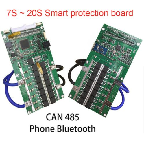 7S ~ 20S Li-ion Lipo Lithium Battery Protection Board Balance Lifepo4 LTO titanate 18650 BMS 48V 36V 24V CAN 485 Phone Bluetooth lto battery bms 5s 12v 80a 100a 200a lithium titanate battery circuit protection board bms pcm for lto battery pack same port