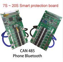 7 s ~ 20 s Li-ion Lipo Lifepo4 LTO titanato 18650 BMS Placa de Proteção Da Bateria De Lítio Equilíbrio 48 v 36 v 24 v PODE 485 de Telefone Bluetooth
