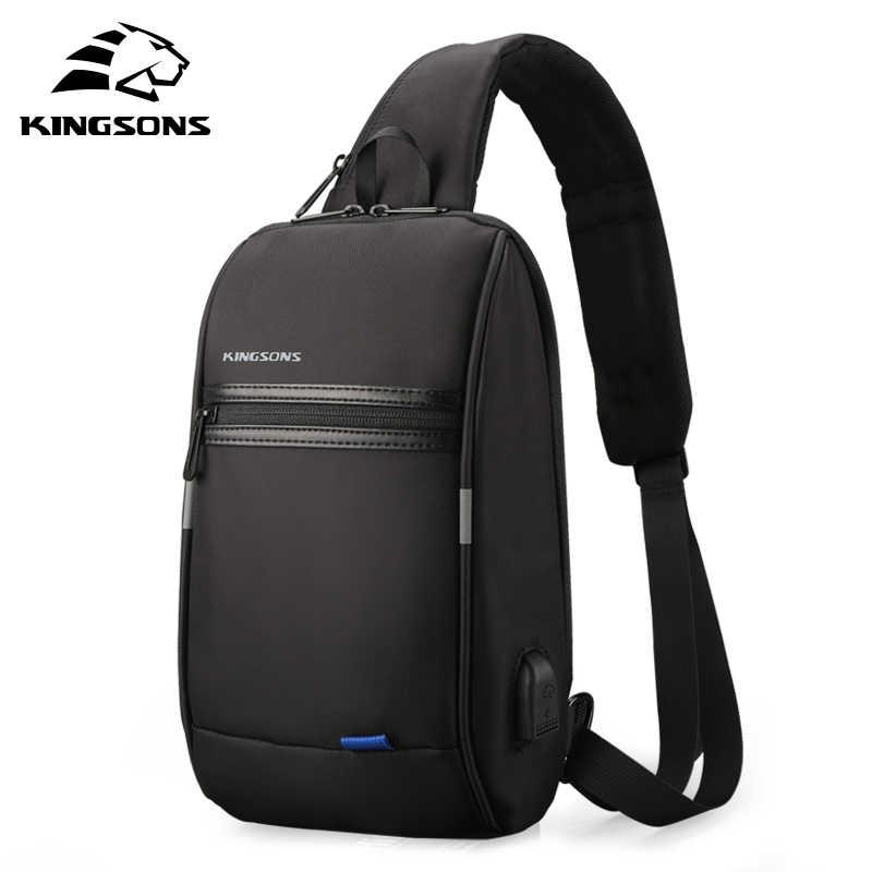 Kingsons мужская сумка через плечо маленькая для мужчин Одиночная сумка на ремне Повседневная дорожная сумка
