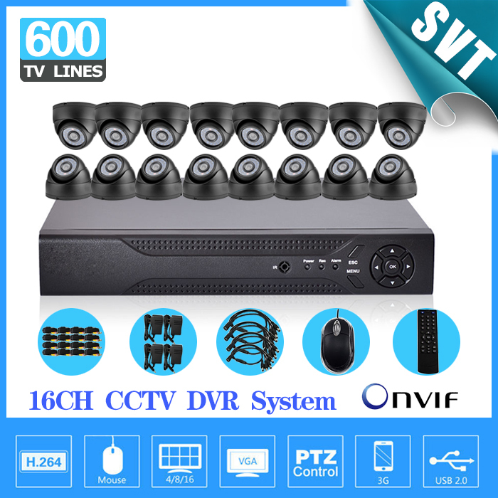 CCTV Security 16CH Standalone Network DVR Camera Video system 16pcs Day Night Weatherproof Camera surveillance DIY Kit SK-167  16ch video camera recorder dvr with 16pcs outdoor waterproof ir day night vision surveillance camera 16ch security sytem dvr kit