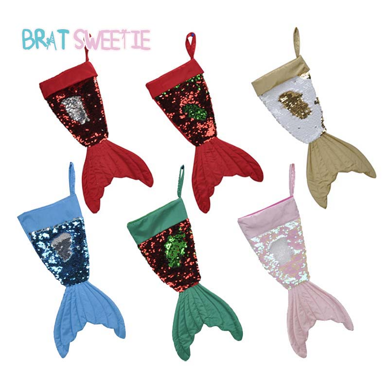 Top Christmas Gifts 2019 For Kids: Christmas Stocking Big Magic Sequin Shining Mermaid Tail