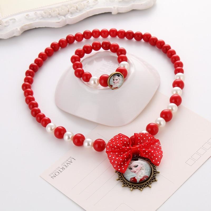 Terbaru Putri Beads Kalung Gelang Perhiasan Set Hadiah Natal untuk - Perhiasan fashion - Foto 4