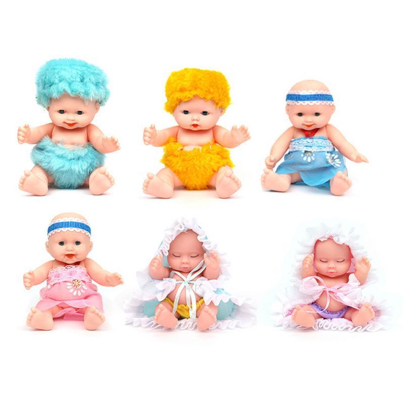 Analytisch 6 Stks Uitdrukking Pop Baby Simulatie Zacht Plastic Pop Childs Kleuterschool Levensechte Speelgoed Voor Meisjes Verjaardagscadeau Kerstcadeaus