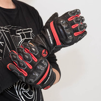 2017 Summer New ROCK BIKER Racer Knight carbon fiber Motorcycle Gloves Leather Motorbike Ride glove Dismounted 4 colors 5 size