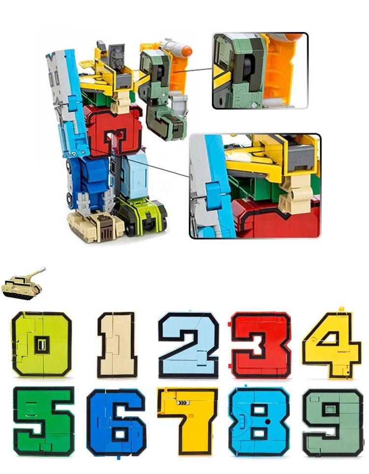 GUDI 2086 Transformer Number Robot Bricks 10 in 1 27