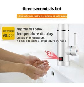 Image 4 - DMWD Electric kitchen instant heating faucet heater hot cold dual use Tankless water quickly heating tap shower with LED display