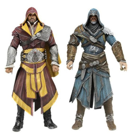 New High Quality Assassin Creed EZIO PVC Action Figures Set of 2 pcs майка print bar assassin s creed ezio collection