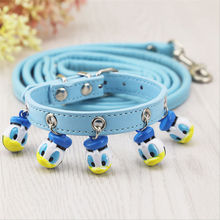 Pet supplies cartoon dog Bell collar cat Teddy small big bell traction rope