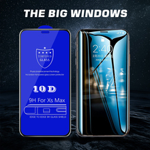 10D HD Full Cover 10D Edge Tempered Glass For iPhone 7 glass iphone 6 6s X glass on iPhone 7 8 Plus Xr Xs Max X Screen Protector цены