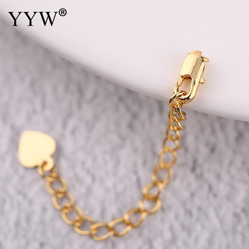 YYW 5pcs/Lot 7cm Tail For DIY Jewelry Making Handmade Extension Chains Rose Gold/Gold Extender Chains With Lobster Clasp