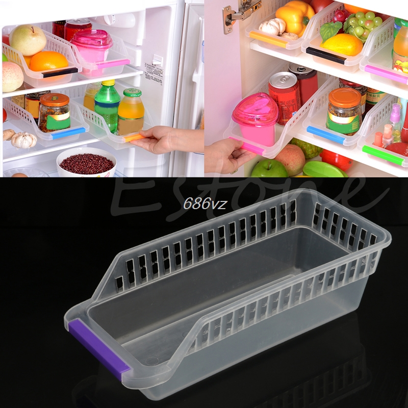 Collecting-Box-Basket Organiser-Rack Refrigerator Storage Fruit Drop-Ship Kitchen Utility