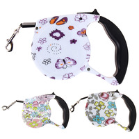 5M Retractable Dog Leashes Floral Print Automatic Lead Walking Leash For Small Medium Dogs Pet Dog