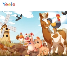 Yeele Cartoon Farm Animal Children Baby Birthday Party Photography Backdrop Custom Photographic Background For Photo Studio