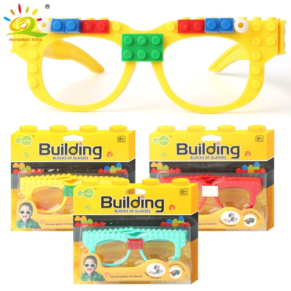 Building Blocks Glasses Baseplate Frame Legoinglys Ninja Friends Police City DIY Toy Glasses Bricks Kid Christmas Gift Party