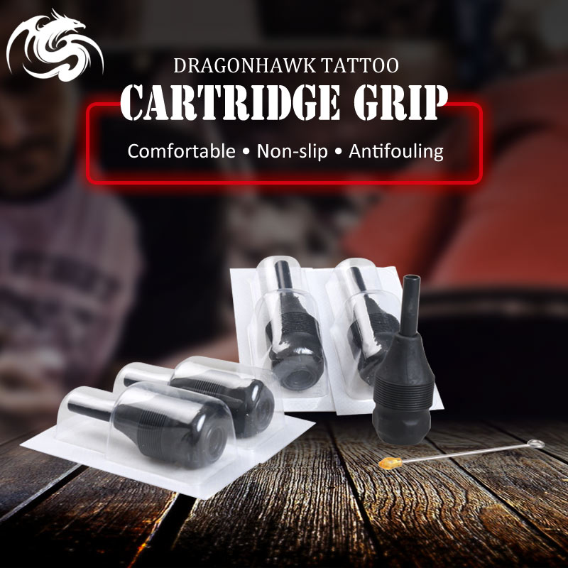 5 stk Engangs Tattoo Grip Black Tube Med Needles Bar Tattoo Tilbehør