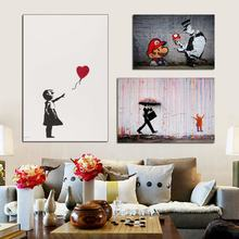 Banksy Street Art Graffiti Canvas Posters Prints Wall Painting Decorative Picture for Living Room Home Decor HD(China)