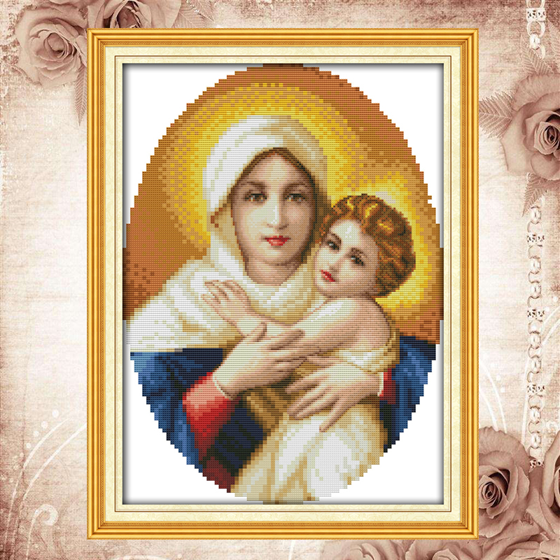 Joy Sunday kits de punto de cruz Holy mother son (5) - Artes, artesanía y costura