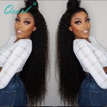 Qearl Curly Lace Front Wigs Human Hair Wig Kinky Brazilian Remy Glueless With Baby 24 26 28inch