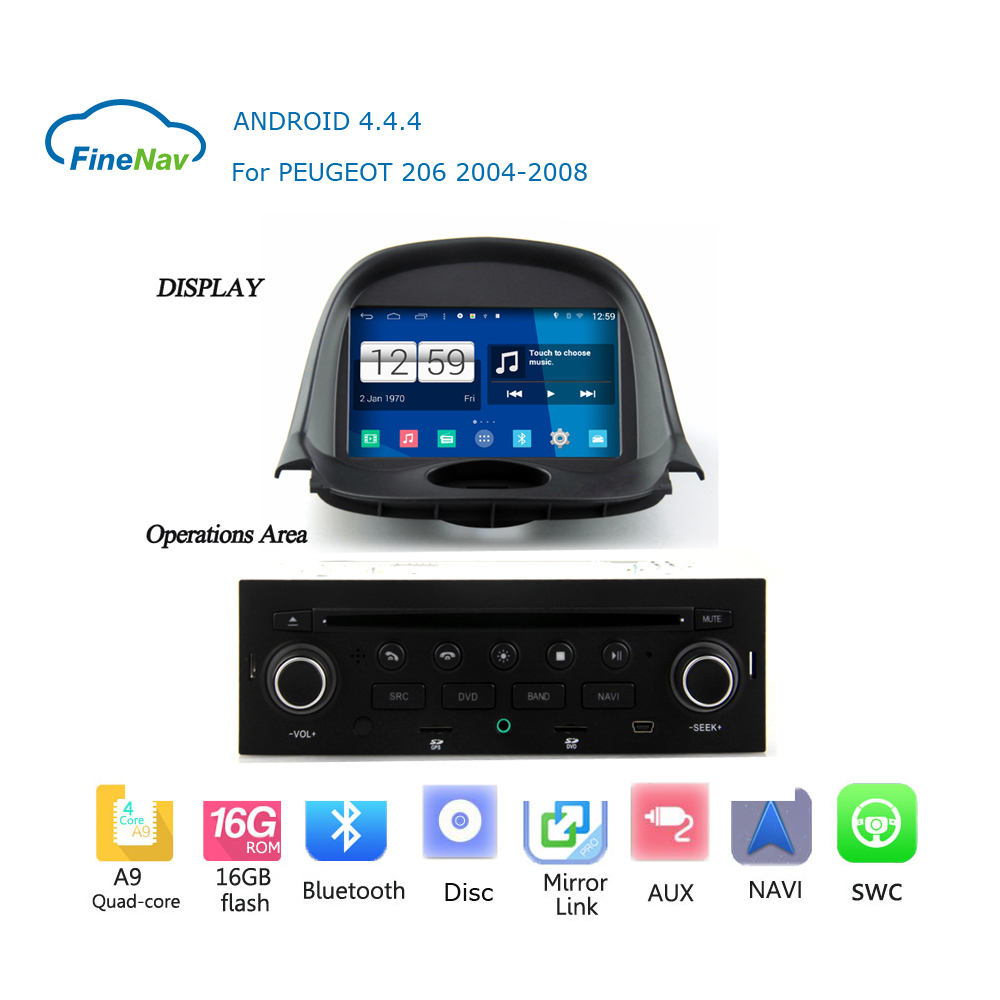 1din android car radio gps navigation player for peugeot. Black Bedroom Furniture Sets. Home Design Ideas