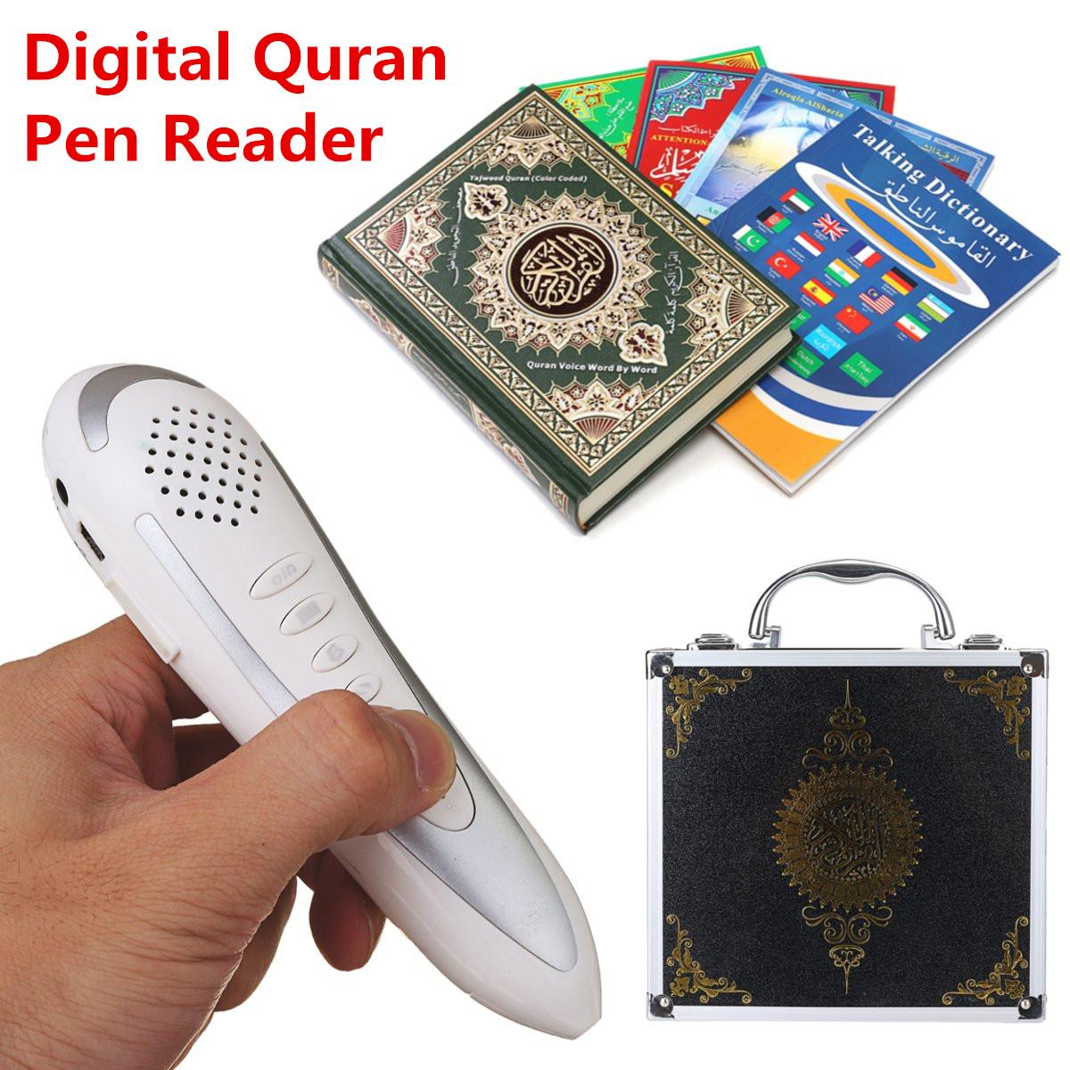 Newest Model F2 Digital Quran Pen Reader 8GB Metal Box Ramadan Gift for Muslims