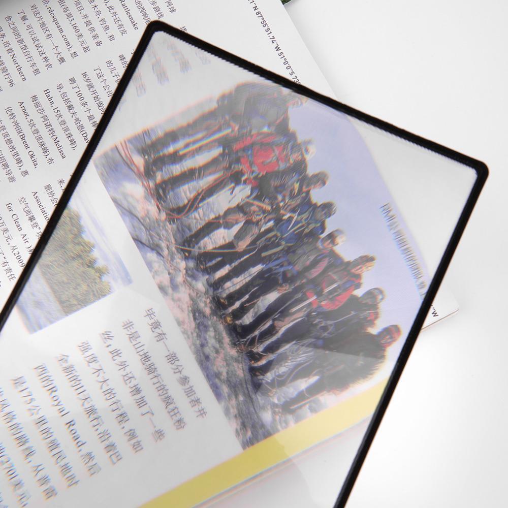 80x120mmhot Продажи Уютная A5 плоской подошве ПВХ лупа Простыни X3 страницы книги увелич ...