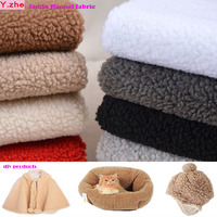 150x50cm1pc Good Plush Fabric Warm Soft Imitation Lambs Flannel Cashmere Plush Fabric Sewing Material For Diy